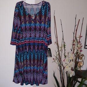 New Multicolor Midi  Dress
